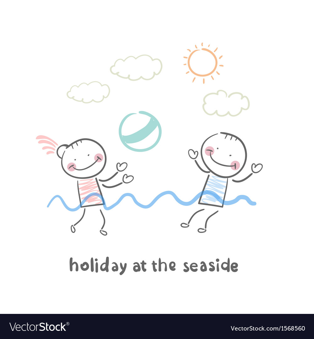 Weekend of the sea vector | Price: 1 Credit (USD $1)