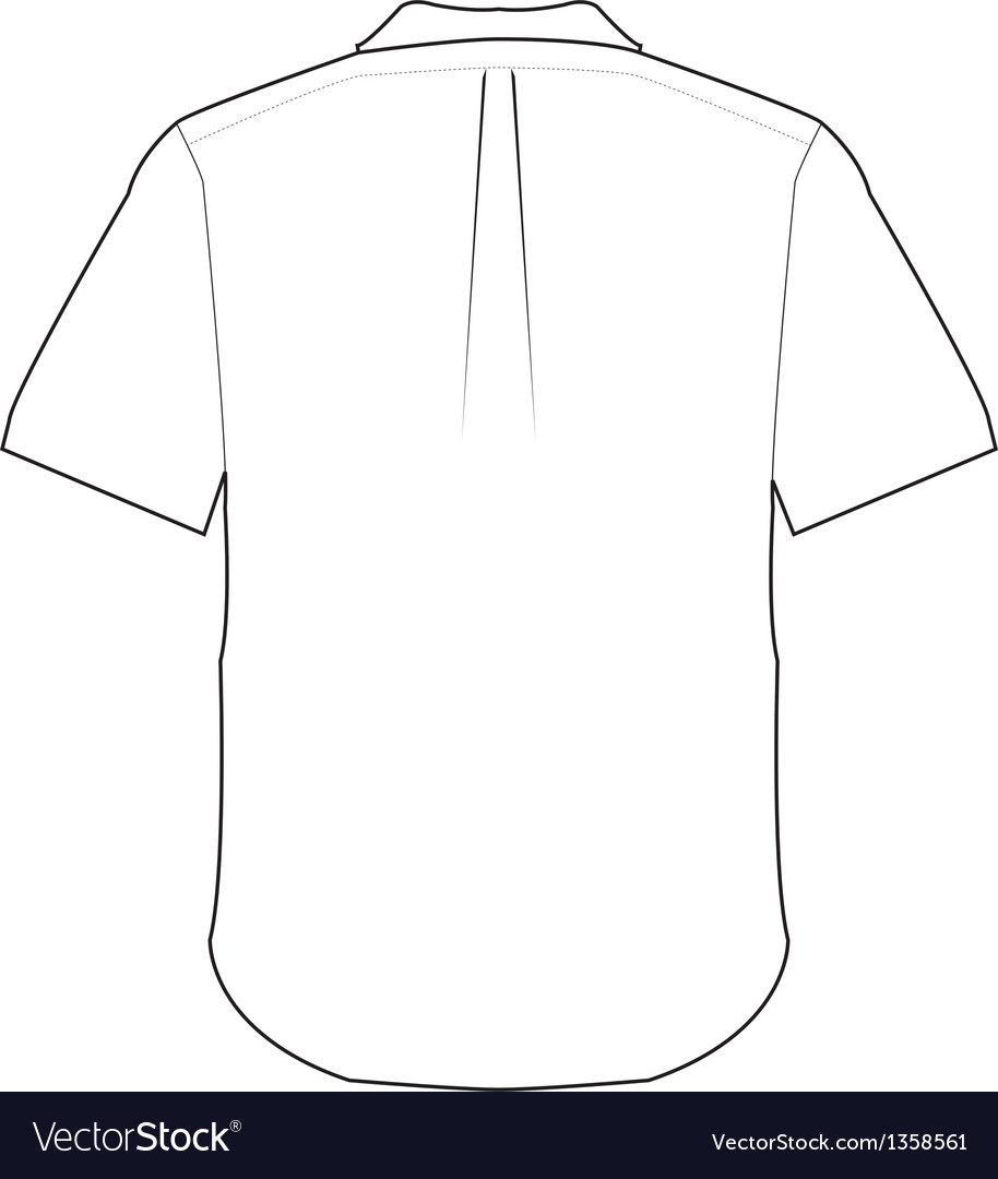 Back shirt vector | Price: 1 Credit (USD $1)
