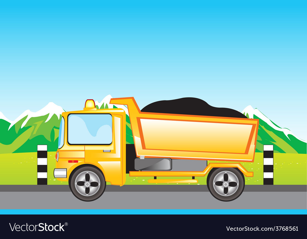 Cargo car on road vector | Price: 1 Credit (USD $1)