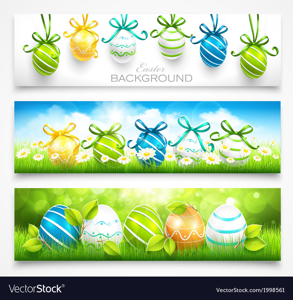Collection of easter banners vector | Price: 1 Credit (USD $1)