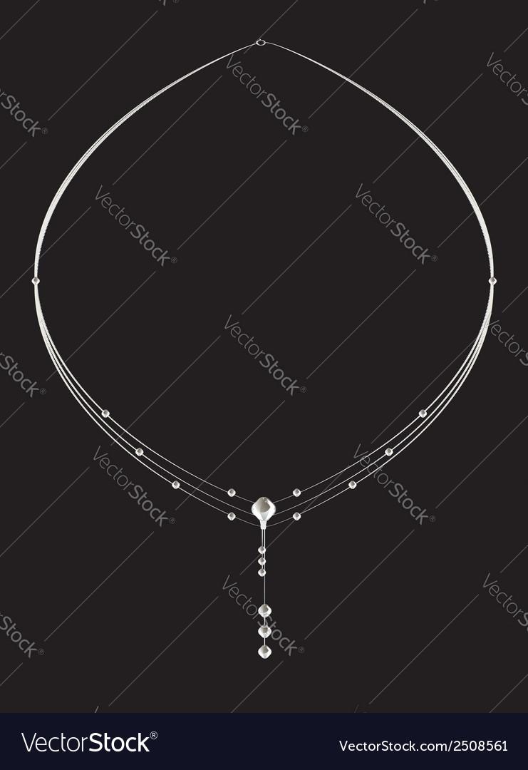 Elegant silver diamond necklace vector | Price: 1 Credit (USD $1)