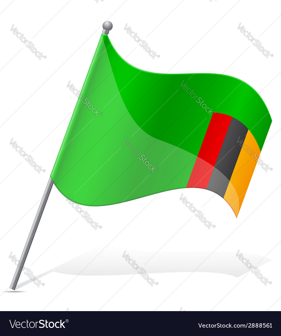 Flag of zambia vector | Price: 1 Credit (USD $1)