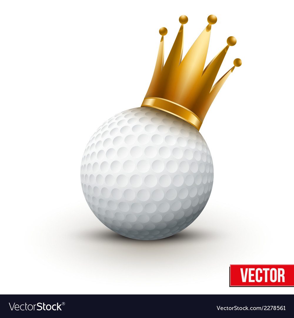 Golf ball with royal queen crown vector | Price: 1 Credit (USD $1)
