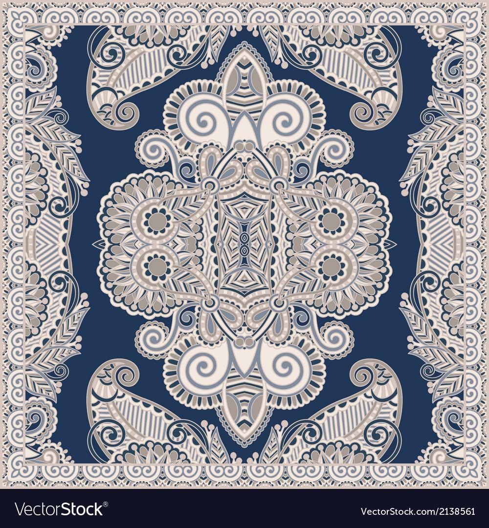 Ornamental floral paisley bandanna vector | Price: 1 Credit (USD $1)