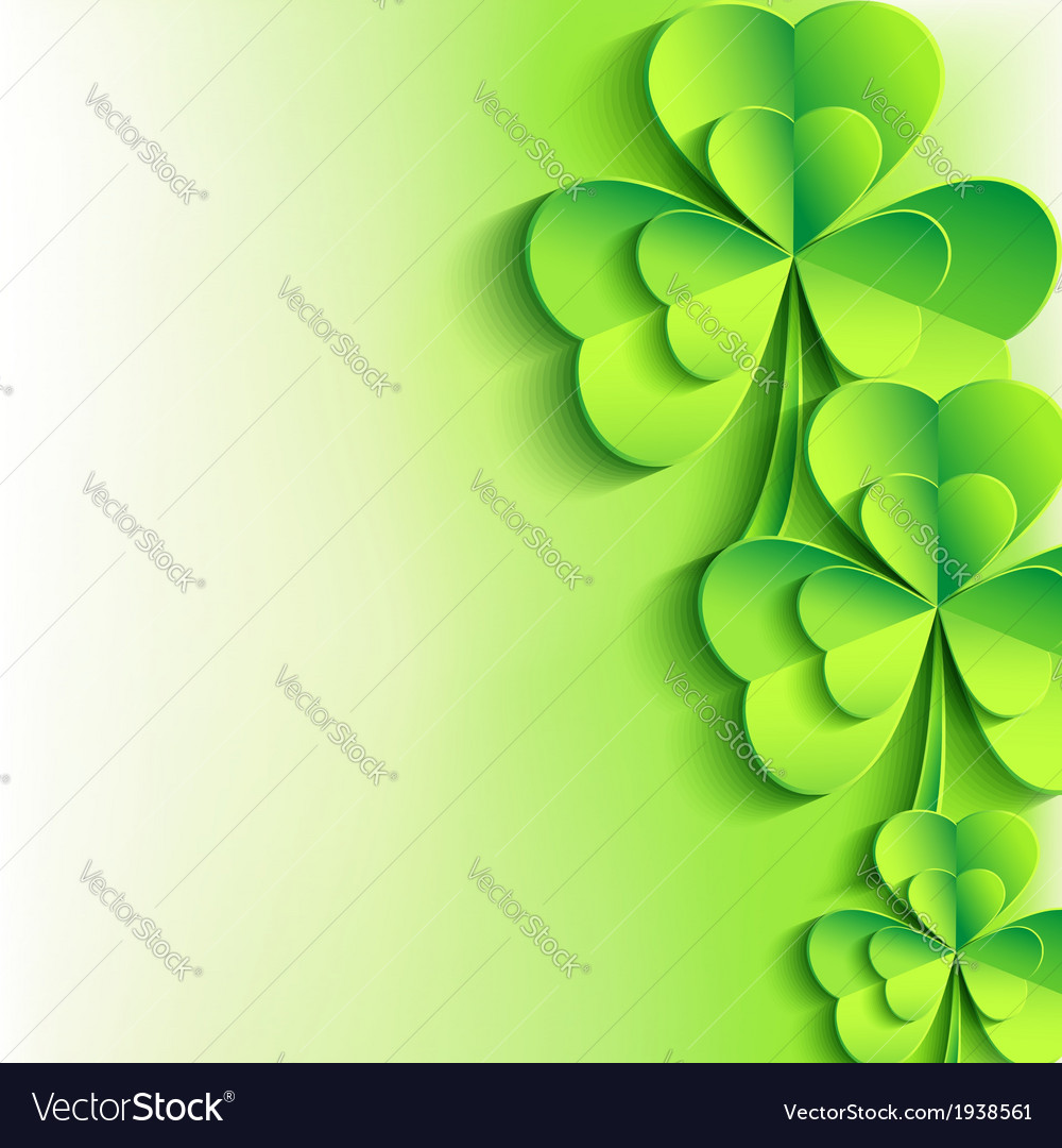 Patricks day background with stylish leaf clover vector | Price: 1 Credit (USD $1)