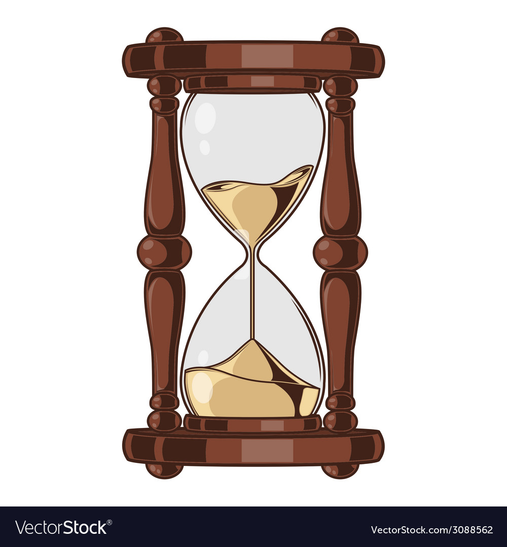 Antique sand hourglass vector | Price: 1 Credit (USD $1)