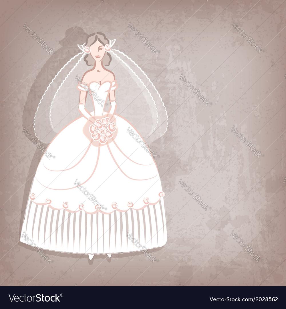 Bride on vintage background vector | Price: 1 Credit (USD $1)