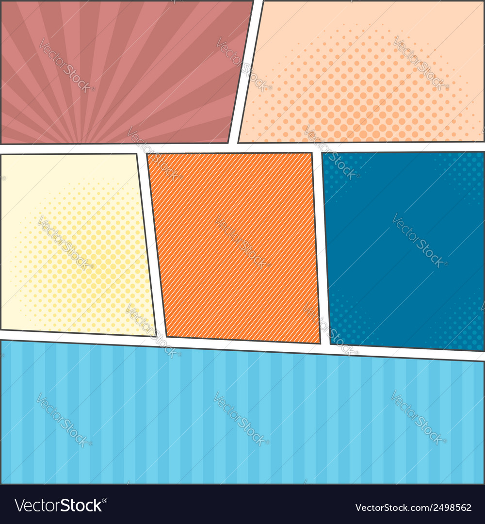 Comics popart layout template vector | Price: 1 Credit (USD $1)