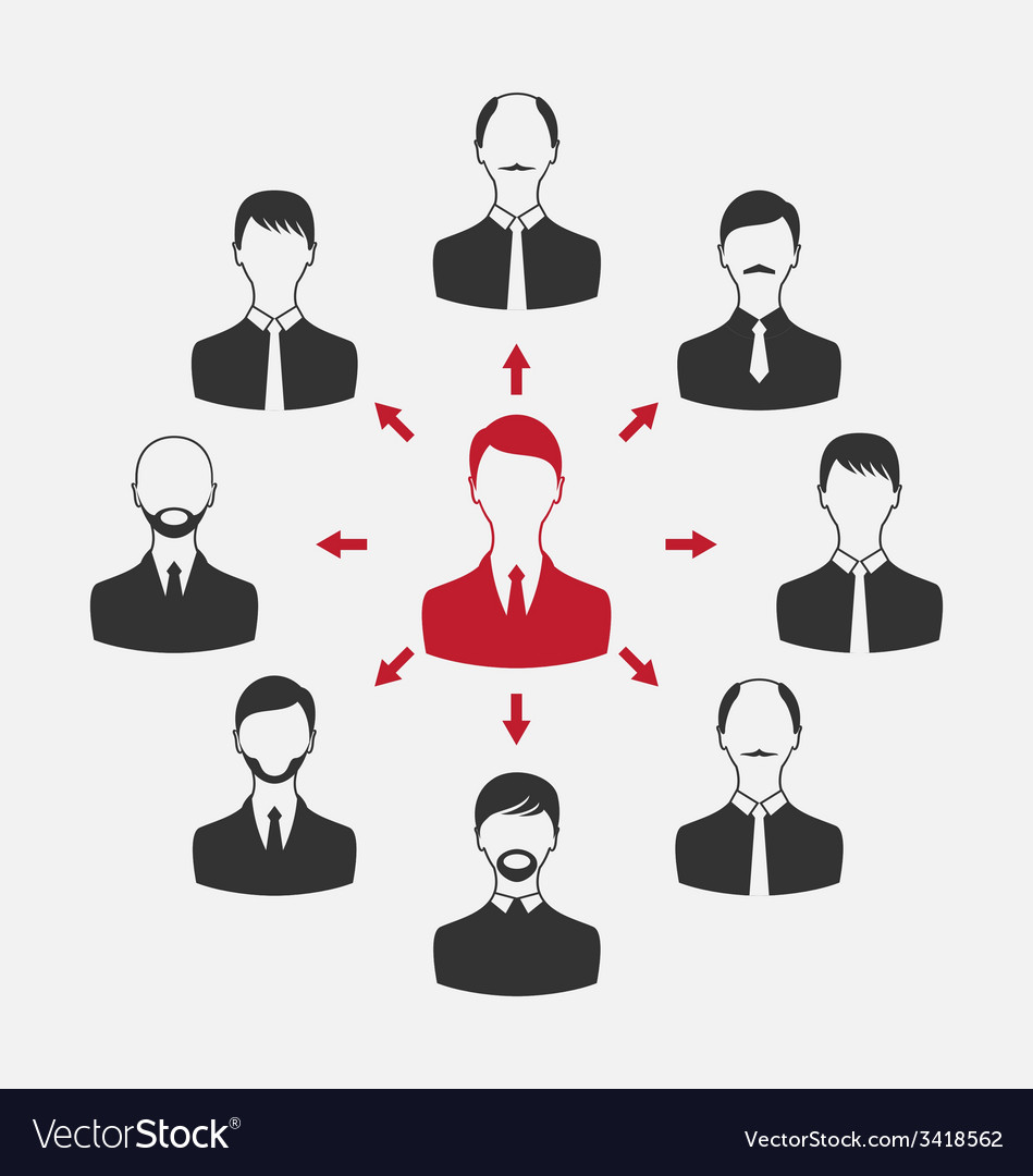 Concept of leadership community business people - vector | Price: 1 Credit (USD $1)