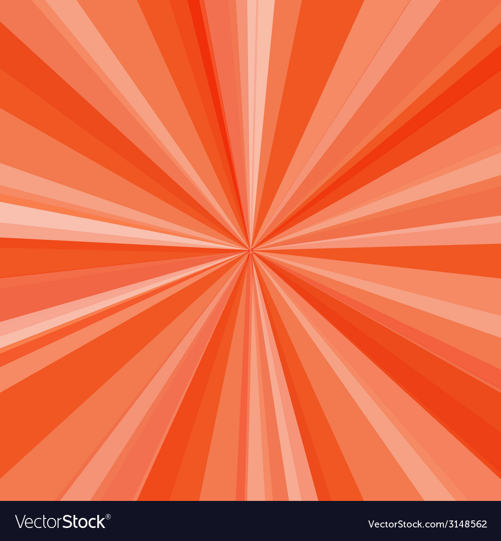 Orange rays background for your bright beams vector | Price: 1 Credit (USD $1)