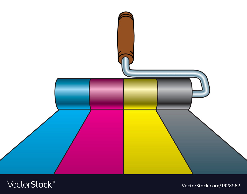 Paint roller cmyk vector | Price: 1 Credit (USD $1)
