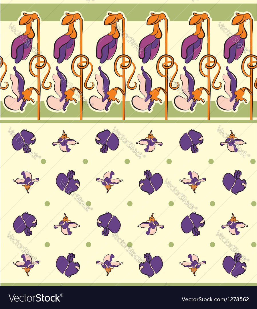 Pea flowers ornament vector | Price: 1 Credit (USD $1)