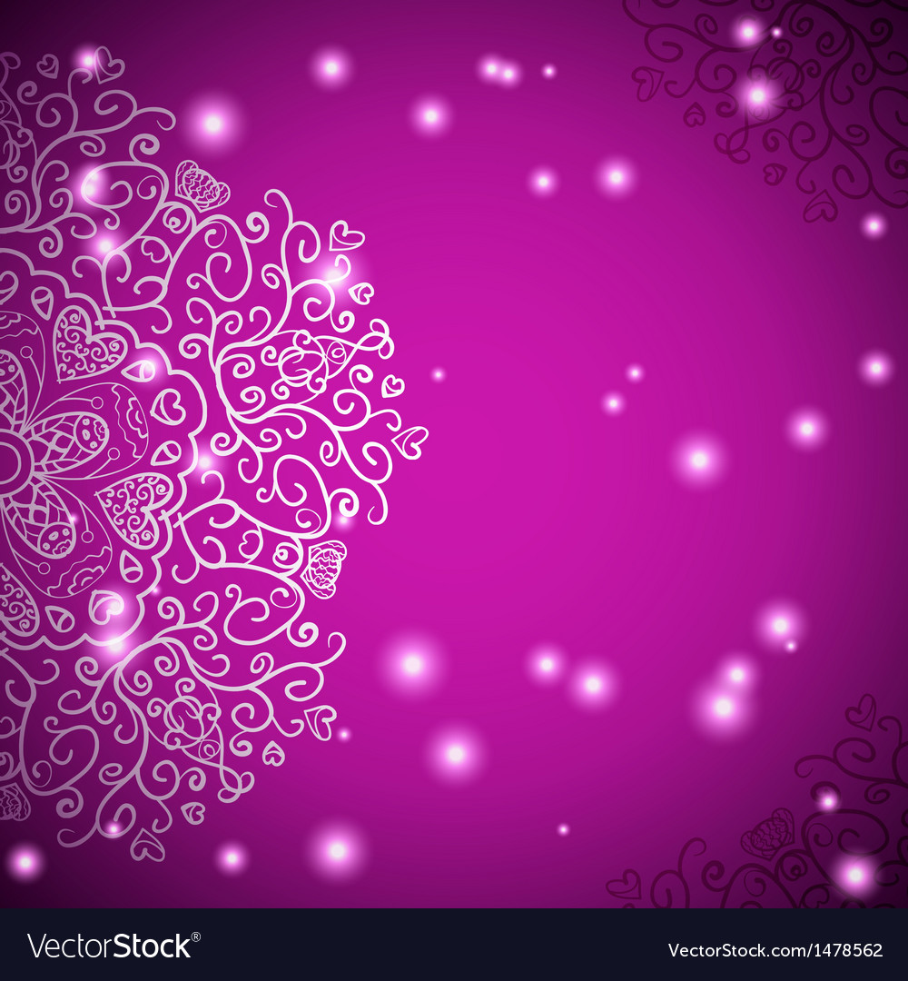 Retro antique ornament purple background with vector | Price: 1 Credit (USD $1)