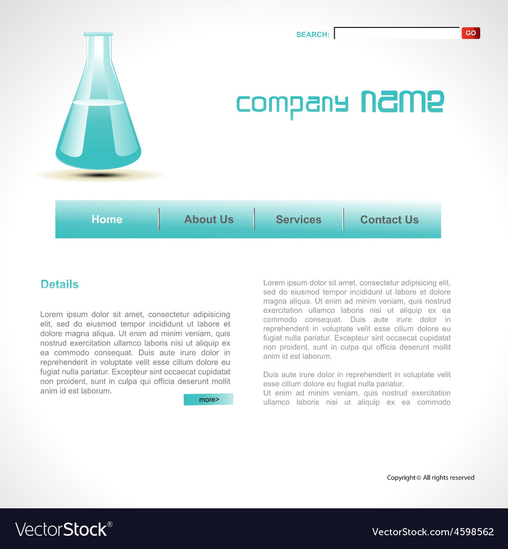 Science template vector | Price: 1 Credit (USD $1)
