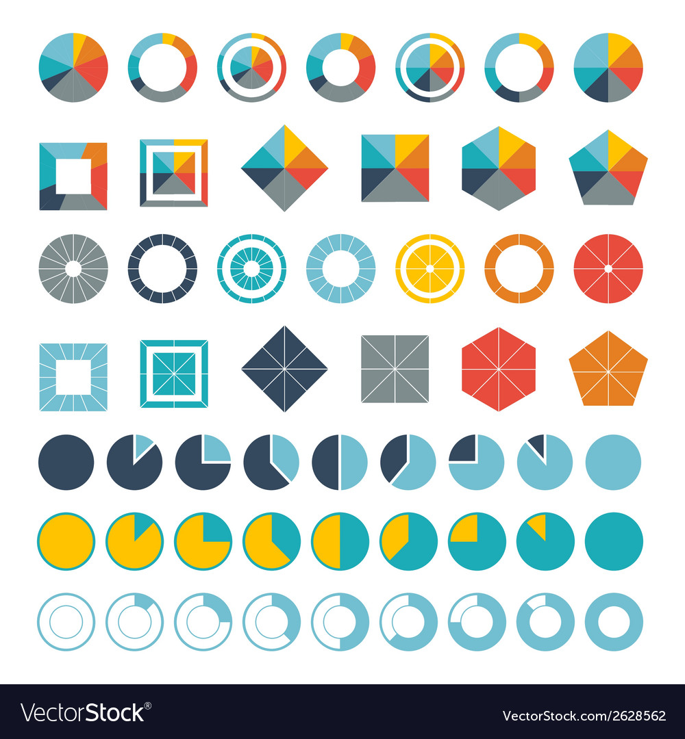 Set of infographic diagram elements for design vector | Price: 1 Credit (USD $1)