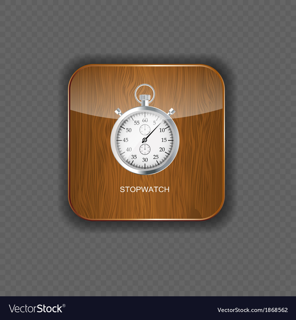 Stopwatch wood application icons vector | Price: 1 Credit (USD $1)