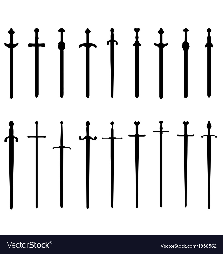 Swords and sabers vector | Price: 1 Credit (USD $1)