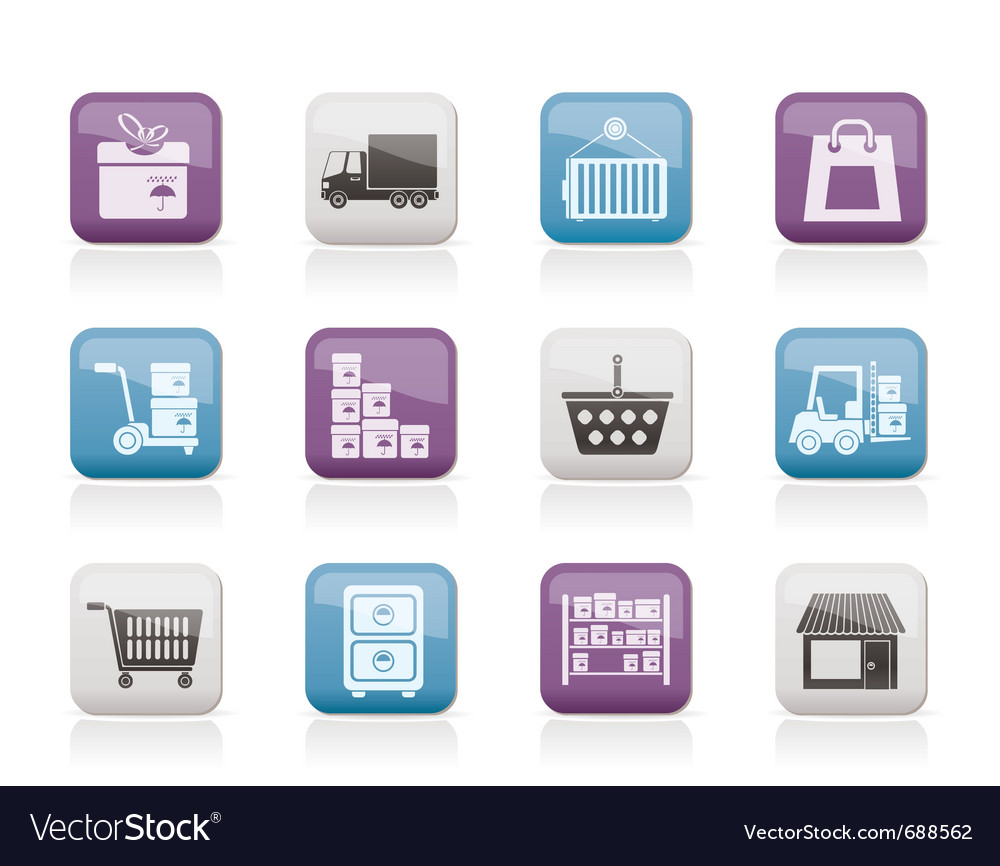 Transportation and shipping icons vector | Price: 1 Credit (USD $1)
