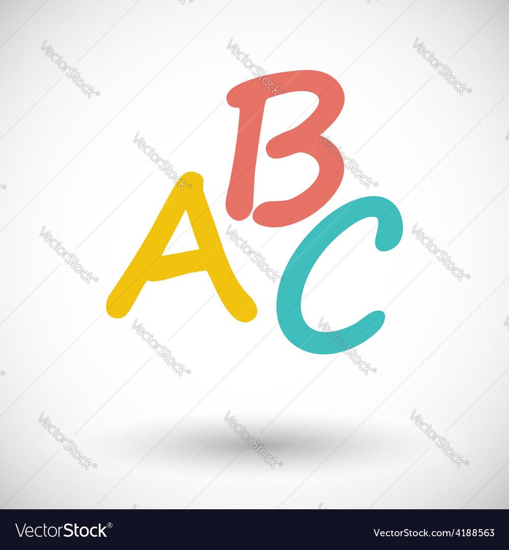 Alphabet icon vector | Price: 1 Credit (USD $1)