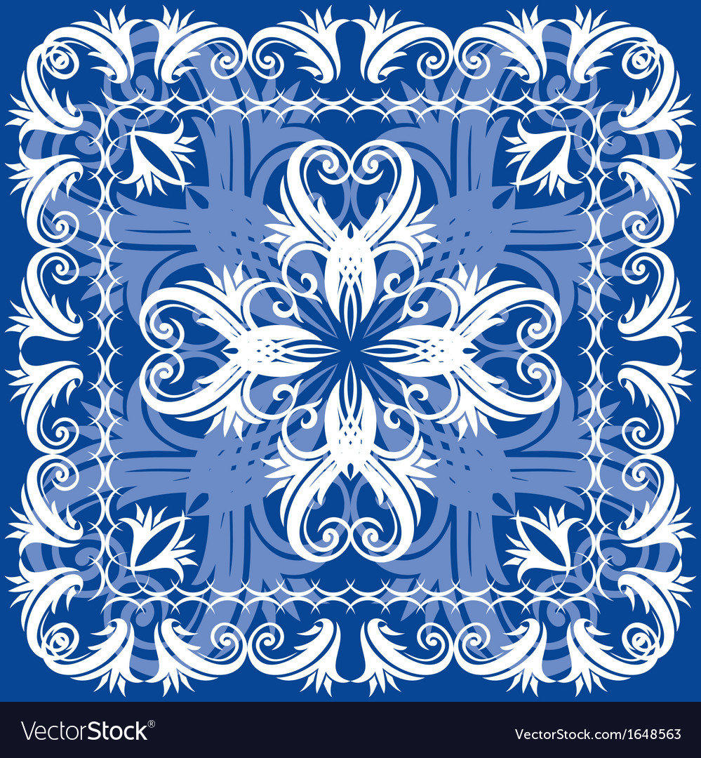 Blue vintage otnament vector | Price: 1 Credit (USD $1)