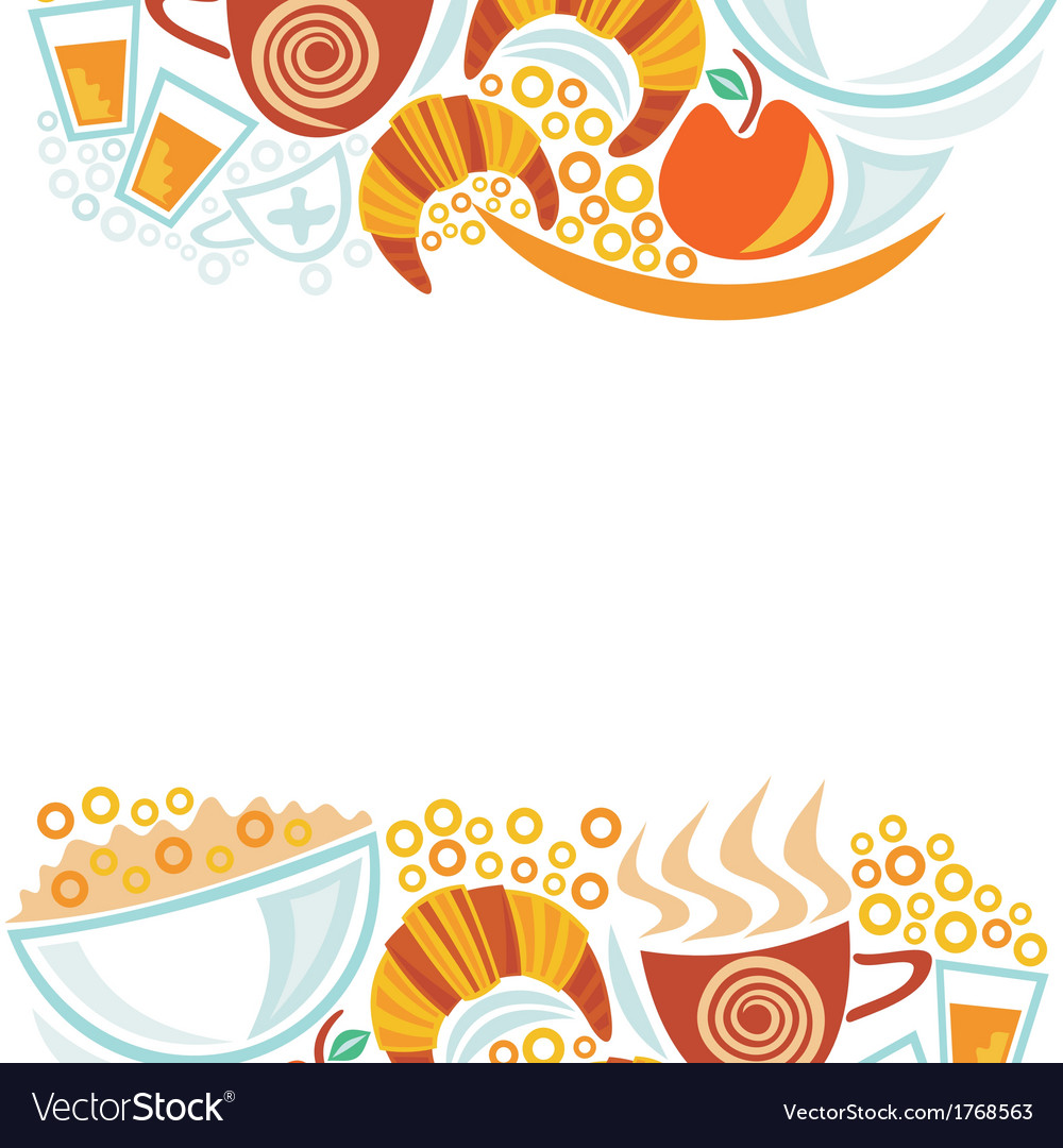 Breakfast and coffee cups pattern vector | Price: 1 Credit (USD $1)