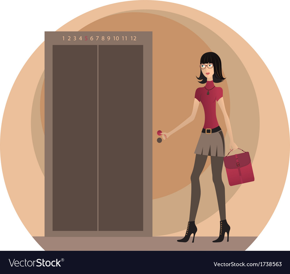 Business woman at the office vector | Price: 1 Credit (USD $1)