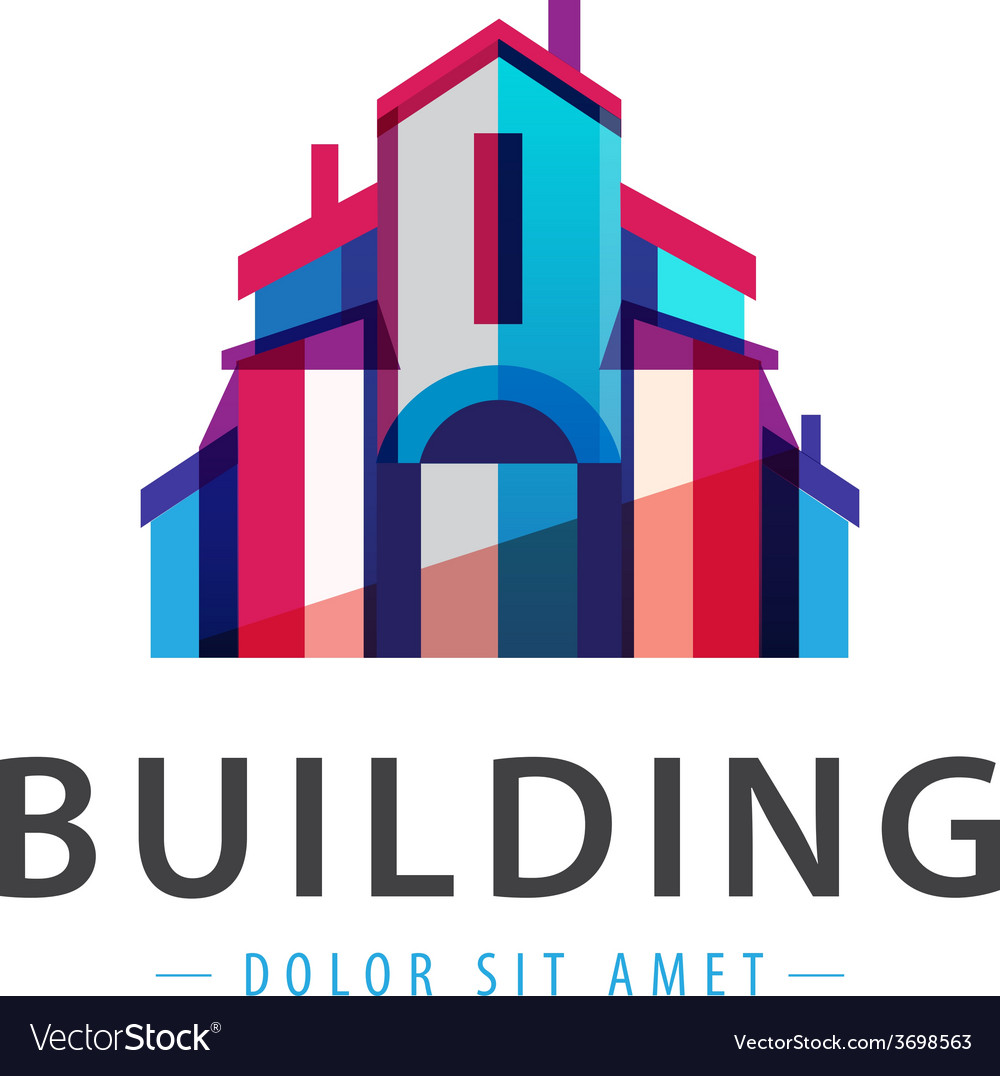 Colorful building house icon logo vector | Price: 1 Credit (USD $1)