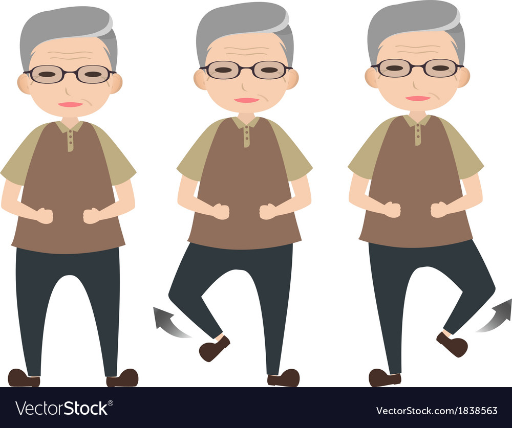 Exercise for elder people vector | Price: 1 Credit (USD $1)