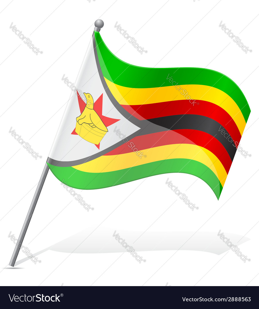 Flag of zimbabwe vector | Price: 1 Credit (USD $1)