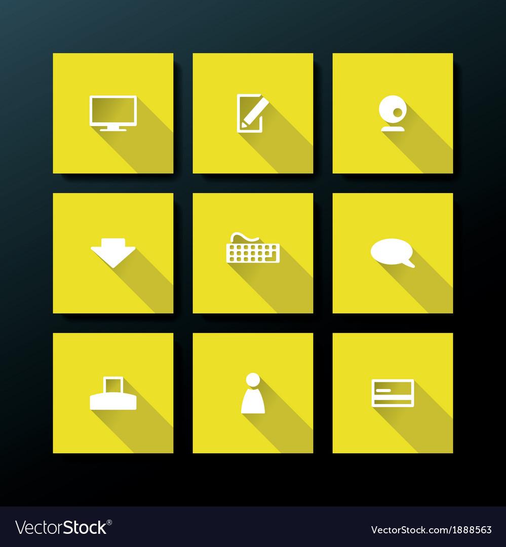 Flat web icon set vector   Price: 1 Credit (USD $1)