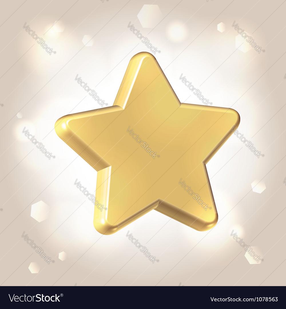 Golden metallic star prize vector | Price:  Credit (USD $)