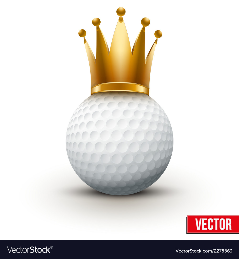 Golf ball with royal crown of queen vector | Price: 1 Credit (USD $1)