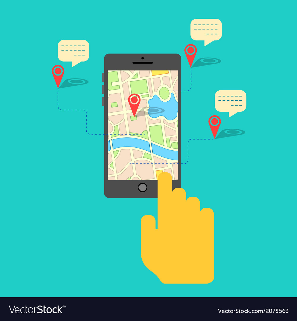 Gps service on mobile phone vector | Price: 1 Credit (USD $1)