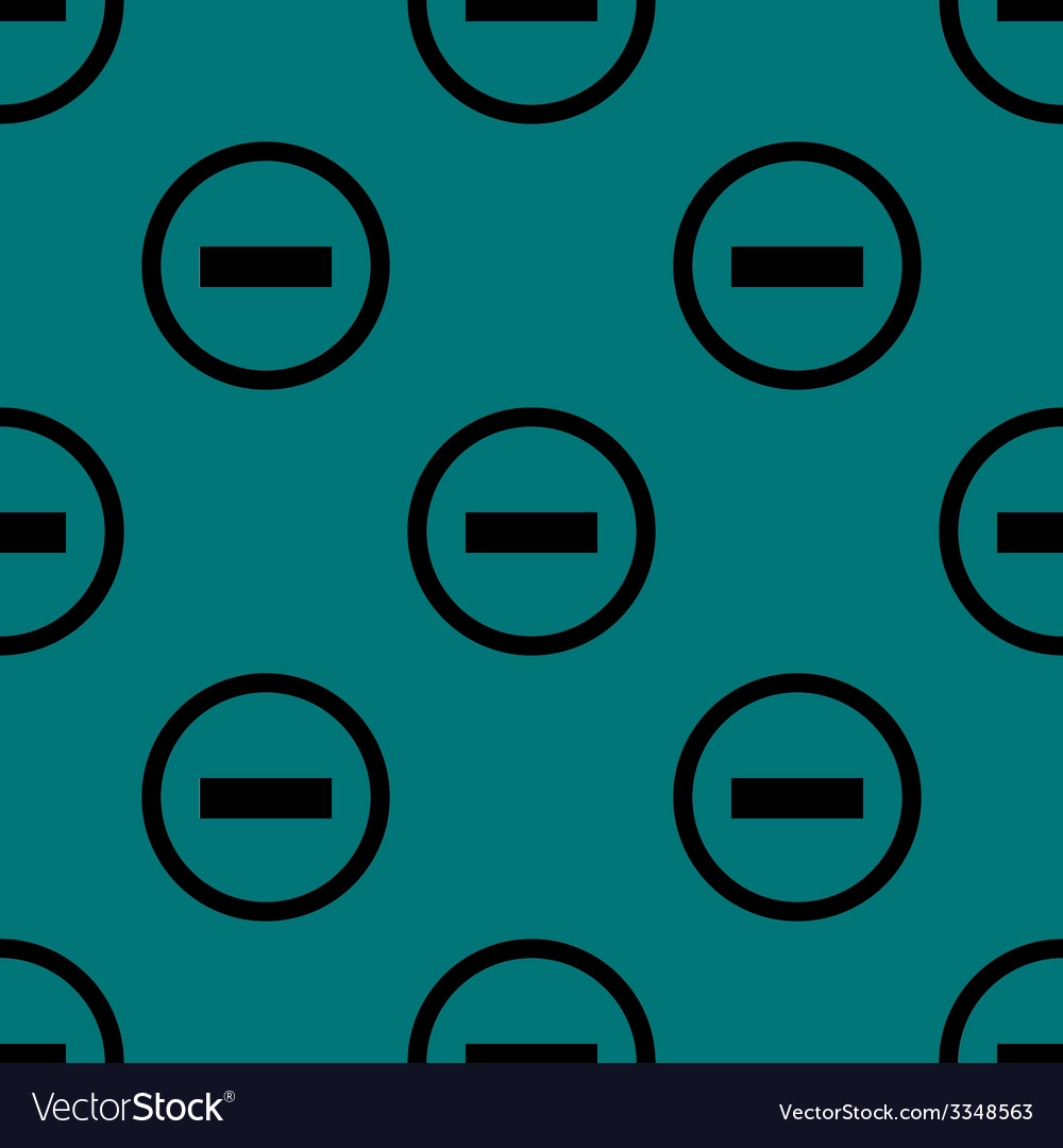 Minus web icon flat design seamless pattern vector   Price: 1 Credit (USD $1)