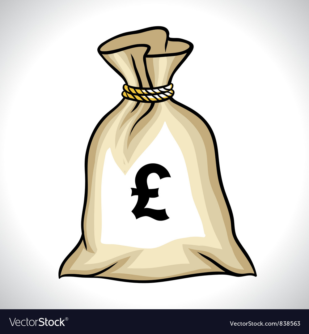 Money bag with pound sign vector | Price: 1 Credit (USD $1)