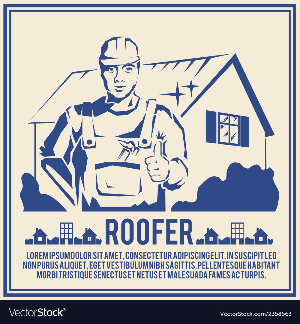 Roofer silhouette poster poster vector | Price: 1 Credit (USD $1)