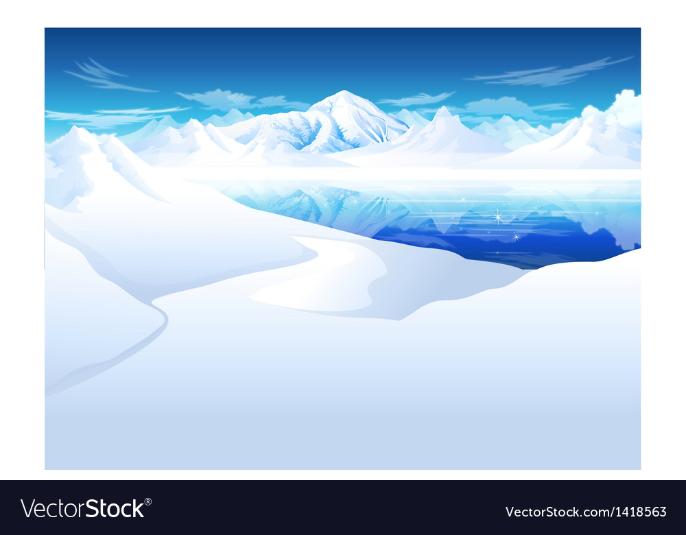 Snowcapped mountain vector | Price: 1 Credit (USD $1)