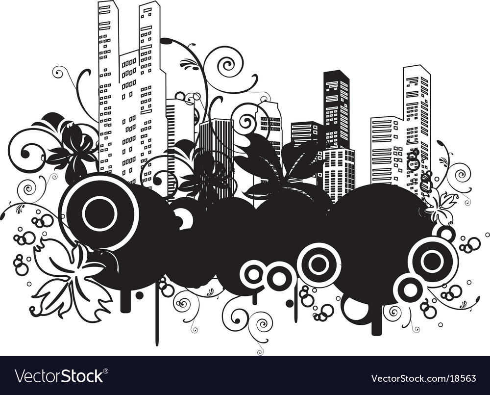 Urban buildings vector | Price: 1 Credit (USD $1)