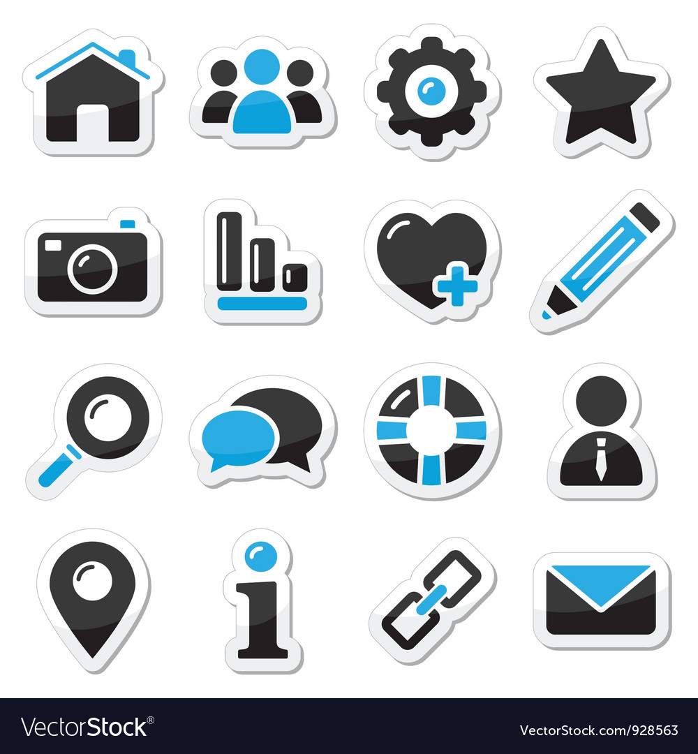 Web and internet icons set vector | Price: 1 Credit (USD $1)
