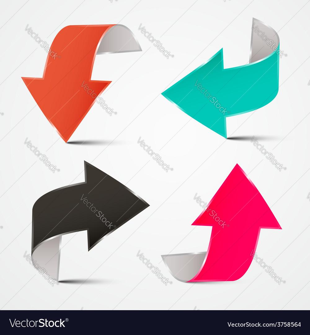 3d arrows set vector | Price: 1 Credit (USD $1)