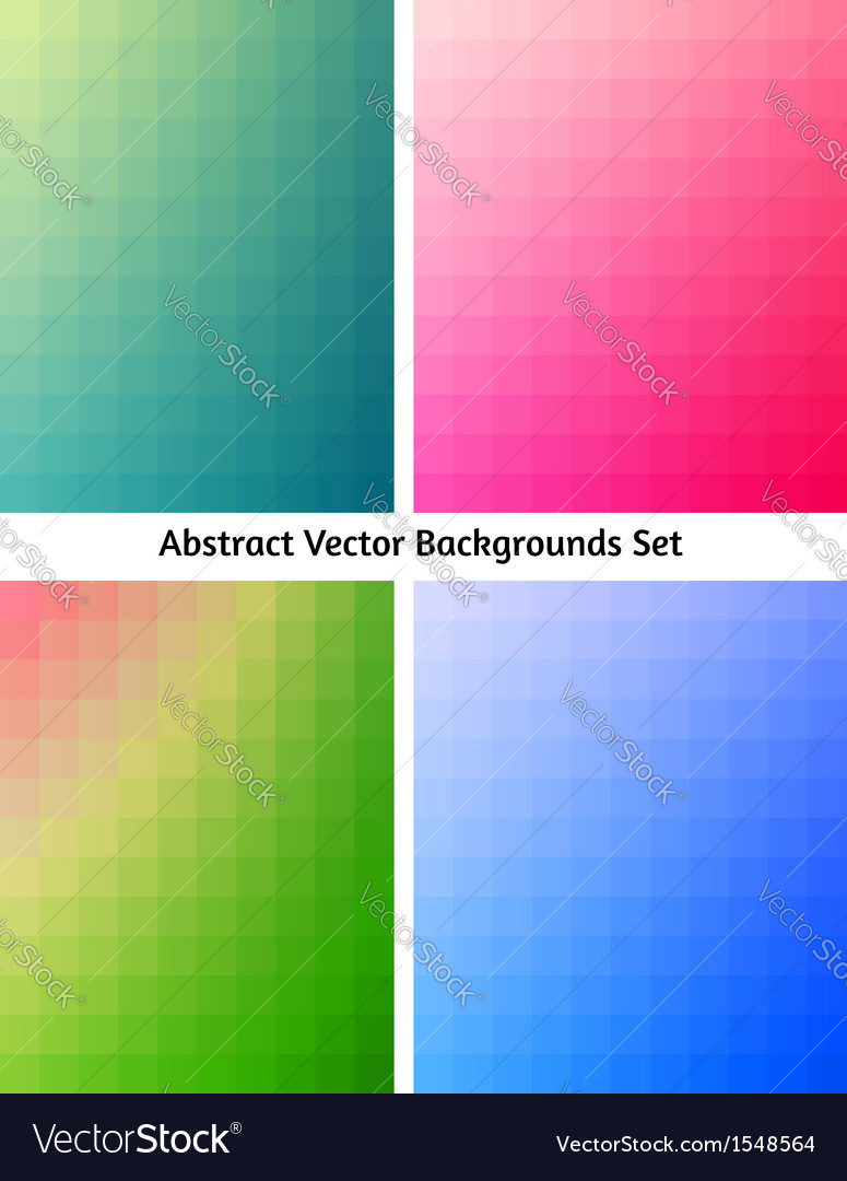 Abstract backgrounds collection flowing colors vector | Price: 1 Credit (USD $1)