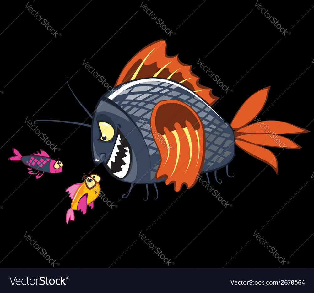 Cartoon fishes characters vector | Price: 1 Credit (USD $1)