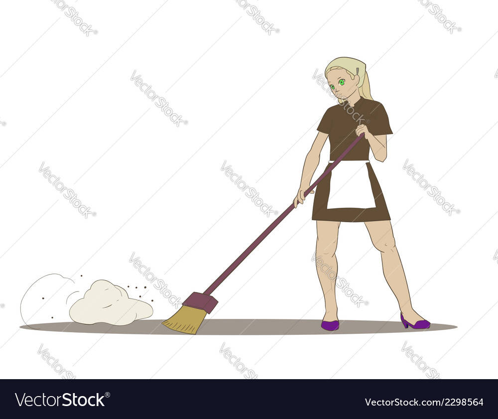 Cleaner girl vector | Price: 1 Credit (USD $1)