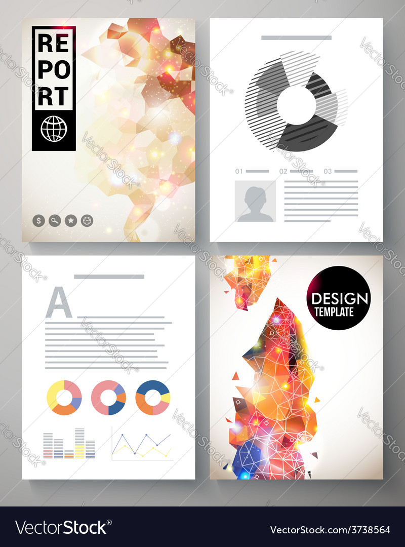 Creative modern template for an corporate report vector | Price: 1 Credit (USD $1)