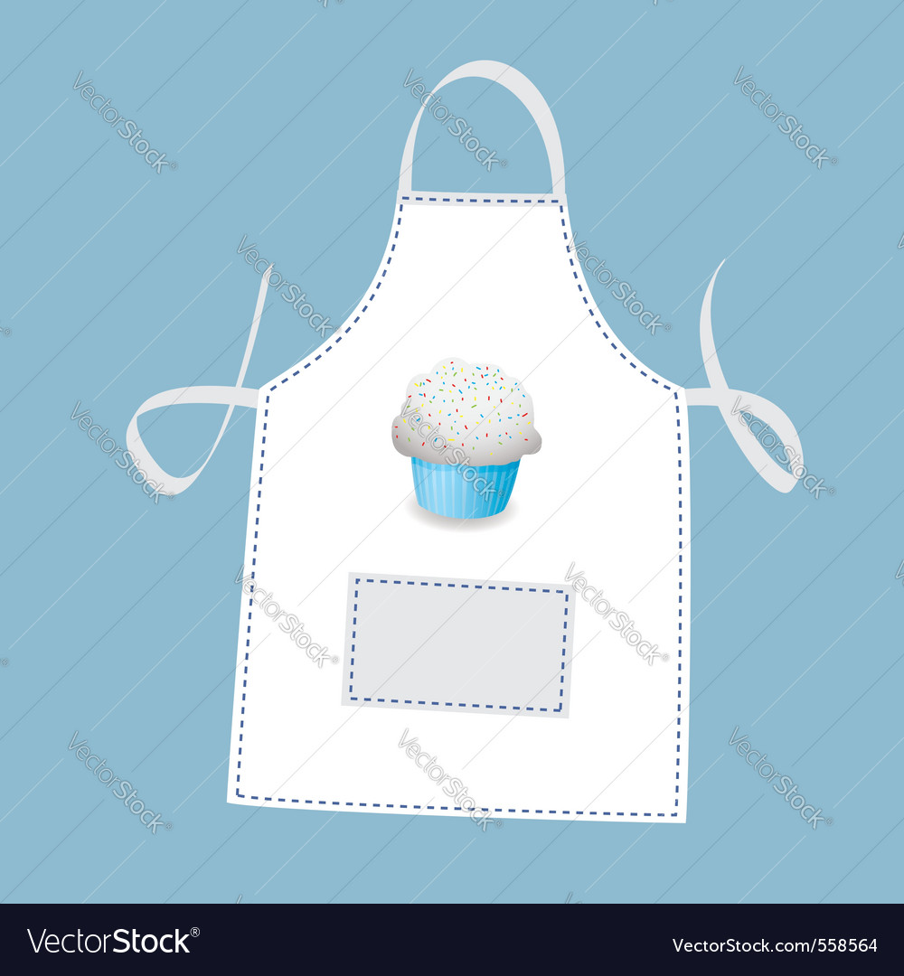 Cupcake apron vector | Price: 1 Credit (USD $1)
