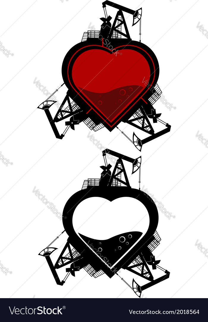 Ecology heart vector | Price: 1 Credit (USD $1)