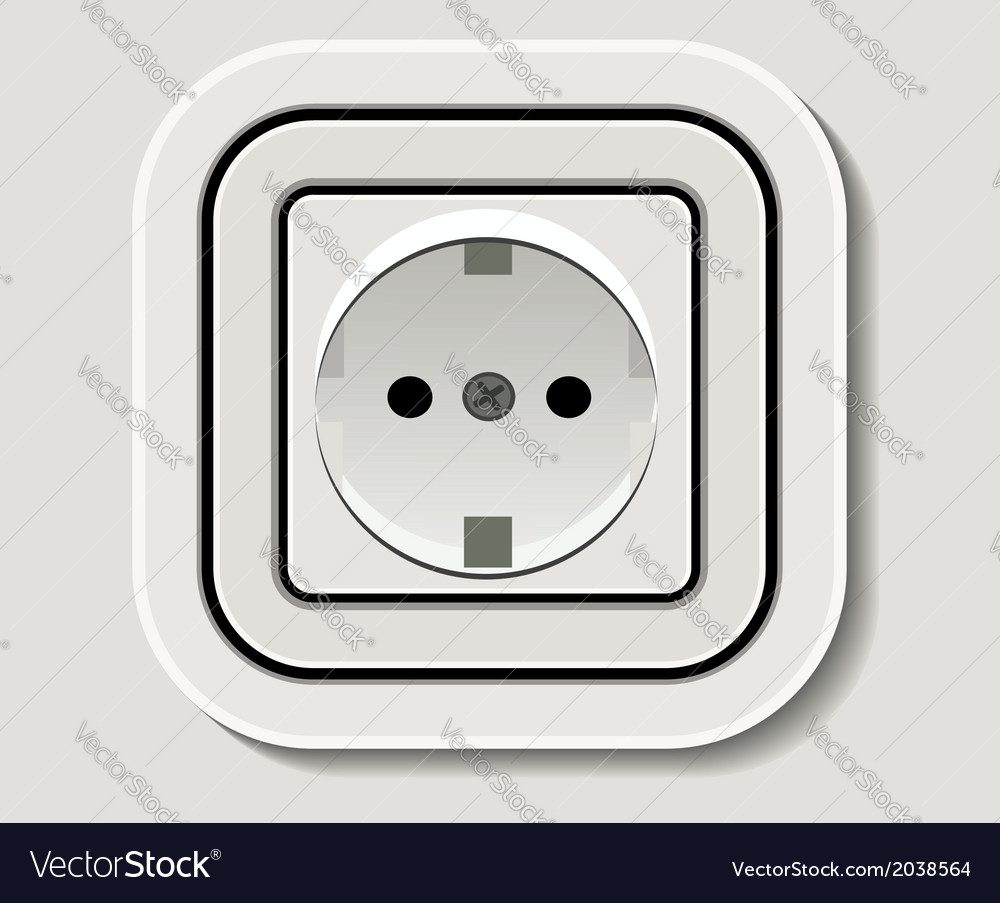 Electrical outlet vector | Price: 1 Credit (USD $1)