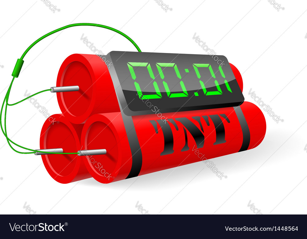 Explosives with digital alarm clock vector | Price: 1 Credit (USD $1)