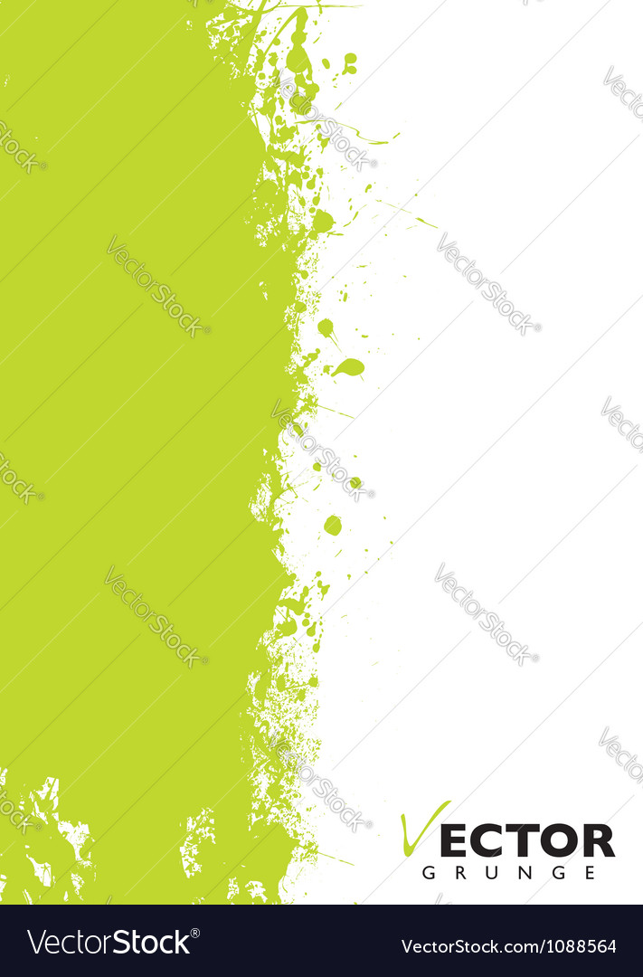 Green splat grunge vector | Price: 1 Credit (USD $1)
