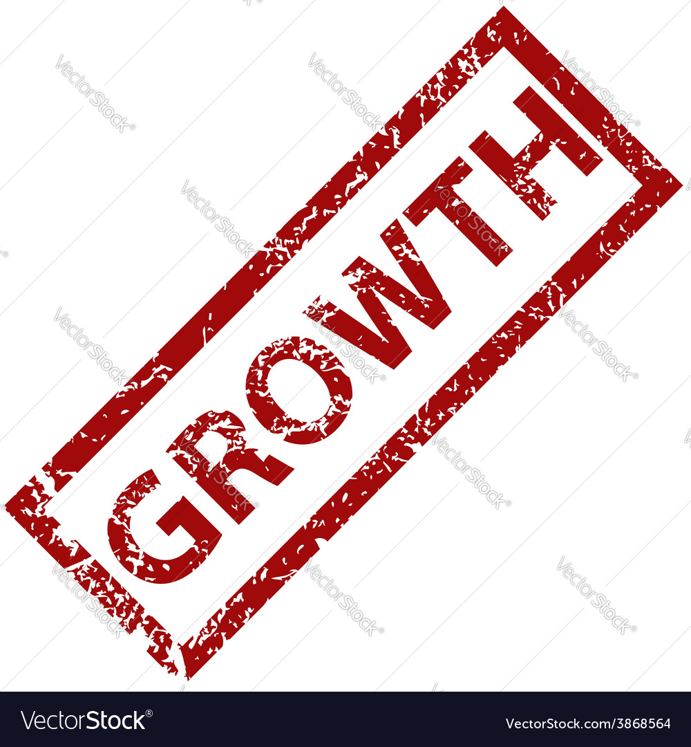 Growth rubber stamp vector | Price: 1 Credit (USD $1)